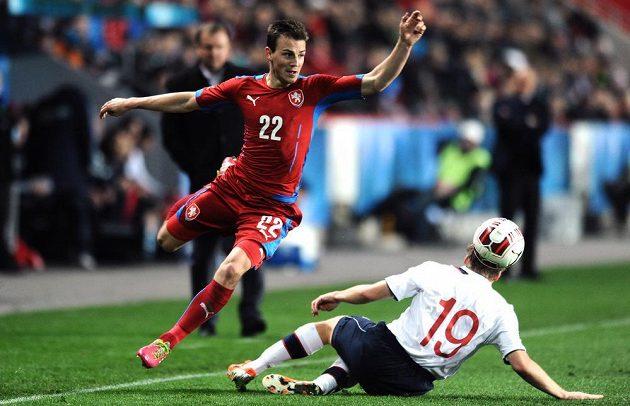 Český záložník Vladimír Darida během přátelského utkání s Norskem v Praze.