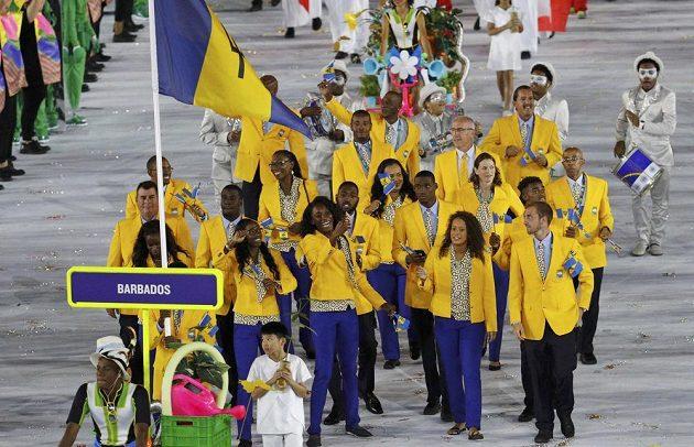 Výprava Barbadosu během slavnostního zahájení her v Riu.