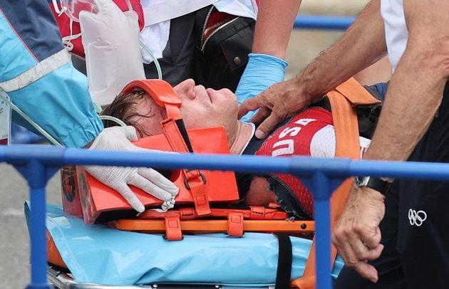 Americký bikrosař Connor Fields utrpěl při těžkém pádu v semifinále olympijského závodu krvácení do mozku.