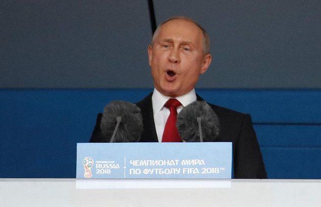 Zahajovací řeč ruského prezidenta Vladimira Putina před startem MS.