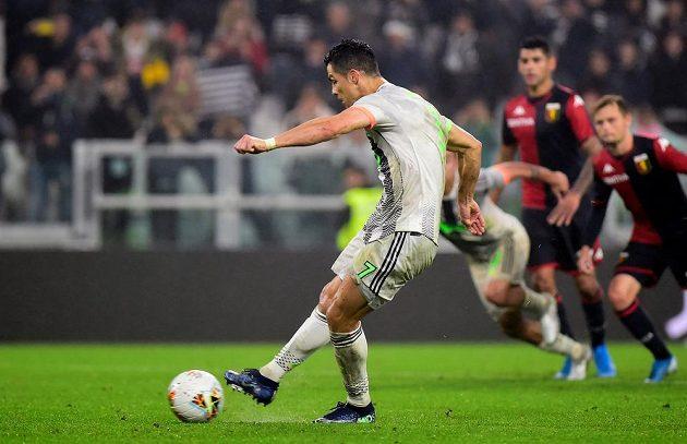 Cristiano Ronaldo proměnil penaltu a Juventus vyhrál nad FC Janov.