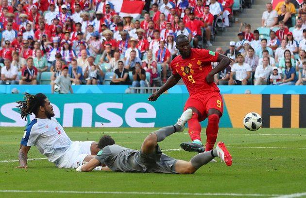 Belgičan Romelu Lukaku zahazuje šanci proti Panamě.