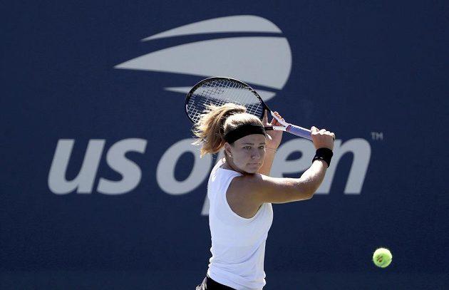Karolína Muchová během utkání druhého kola US Open.