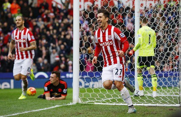 Bojan Krkič po vstřelení vedoucí branky proti Manchesteru United