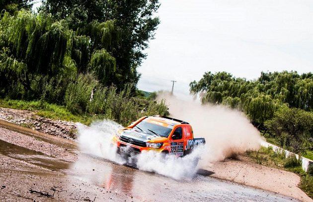Martin Prokop s Toyotou Hilux na trati Rallye Dakar 2016.