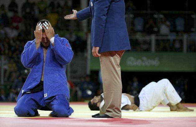 Dojatý Lukáš Krpálek má zlato, ve finále porazil Elmara Gasimova z Ázerbájdžánu