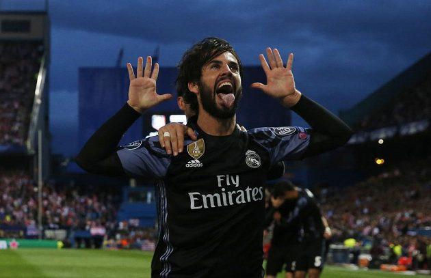 Isco z Realu jásá, dal veledůležitý gól proti Atlétiku.