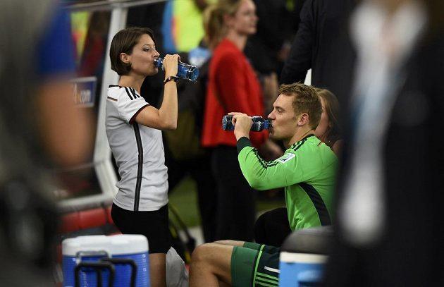 Manuel Neuer a jeho přítelkyně Kathrin Gilchová.