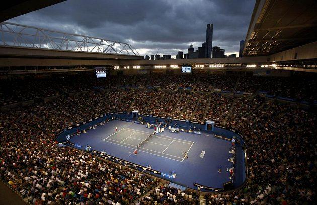 Rod Laver Arena v Melbourne pohledem fanouška.