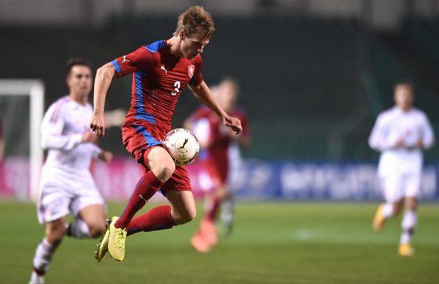 Český obránce Tomáš Kalas v přátelském utkání s Dánskem.