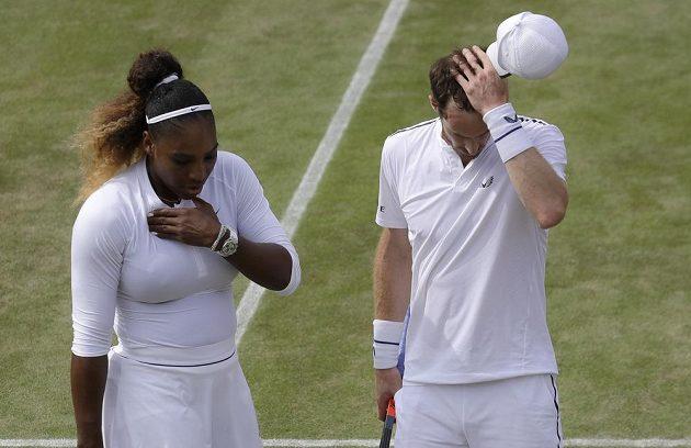 Serena Williamsová a její tenisový partner Andy Murray na své soupeře nestačili