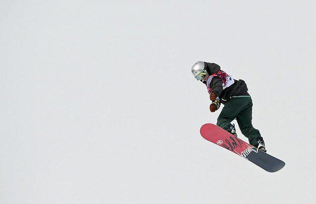 Olympionička Šárka Pančochová během své semifinálové jízdy ve slopestylu.