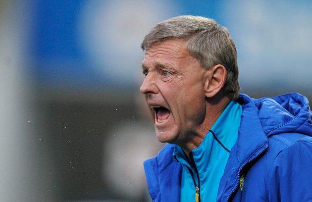 Teplický trenér Zdeněk Ščasný během utkání 28. kola Gambrinus ligy v Liberci.