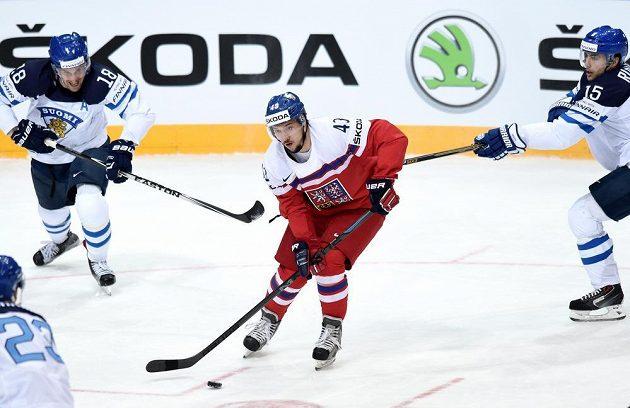 Jan Kovář během čtvrtfinále s Finy.