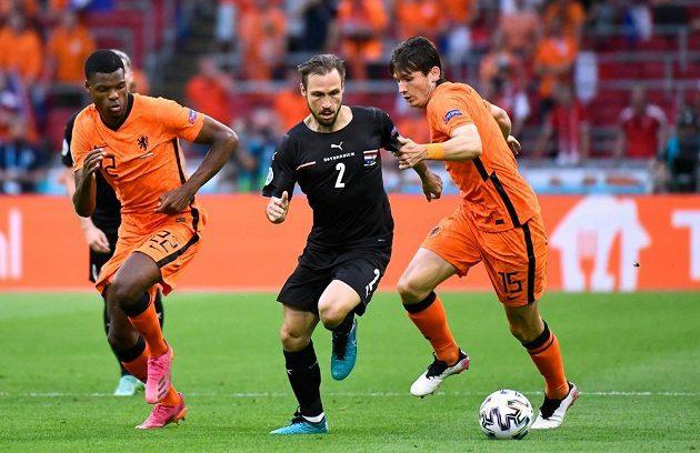 Fotbalisté Nizozemska bojovali na evropském šampionátu s Rakouskem
