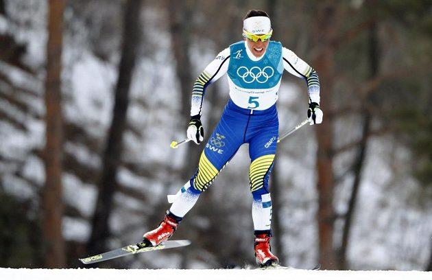 Charlotte Kallaová na olympijské trati.