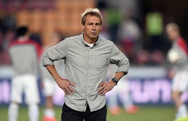 Německý trenér USA Jürgen Klinsmann během přátelského utkání s Českou republikou na Letné.