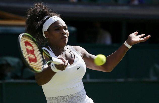 Serena Williamsová v semifinále Wimbledonu.