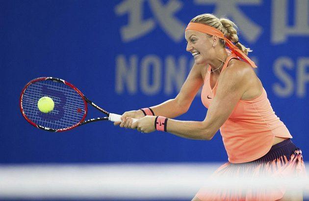 Petra Kvitová během finále ve Wu-chanu.