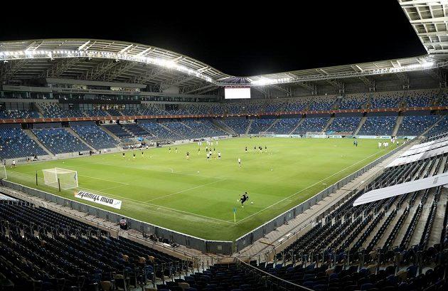 Pohled na stadion v Haifě, dějiště utkání Ligy národů mezi fotbalisty Izraele s Česka.