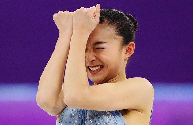 Povedený krátký program předvedla na olympiádě Japonka Kaori Sakamotová.