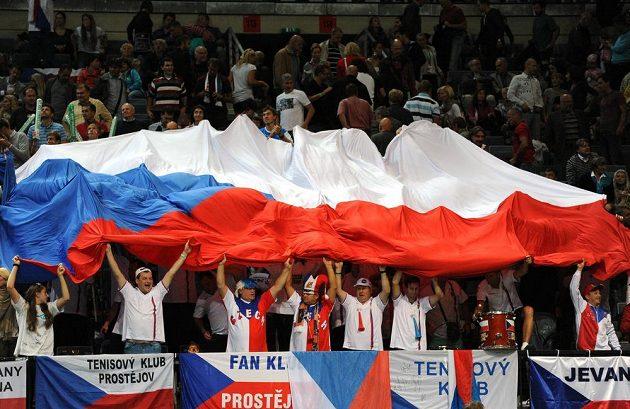 Fanoušci českého daviscupového týmu