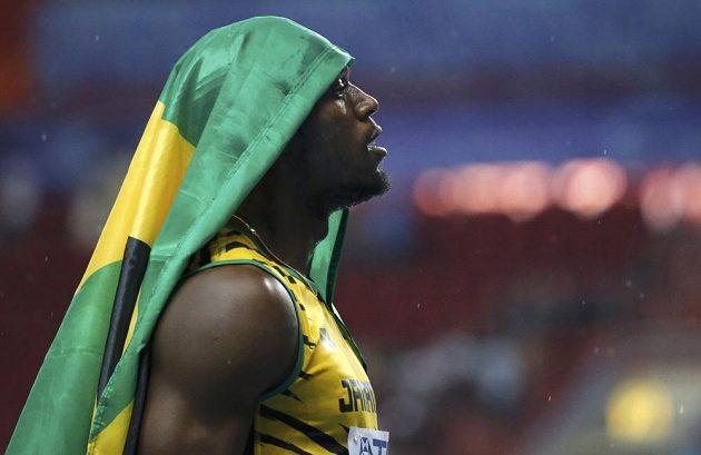 Usain Bolt po triumfu na MS v Moskvě.