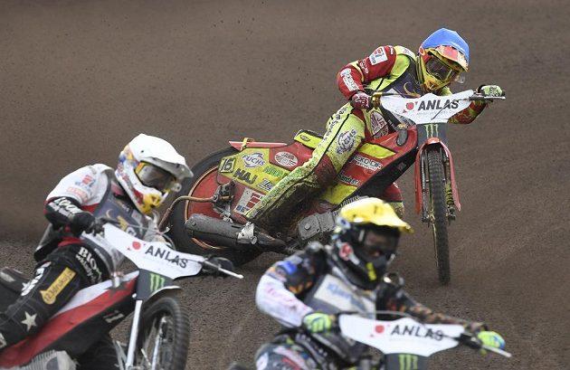 Domácí jezdec Václav Milík během Grand Prix České republiky, závodu MS na ploché dráze.