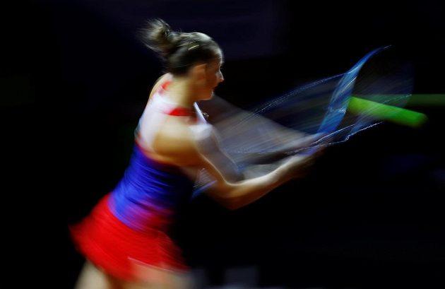 Bekhend Karolíny Plíškové proti Němce Angelique Kerberové ve fedcupovém semifinále.