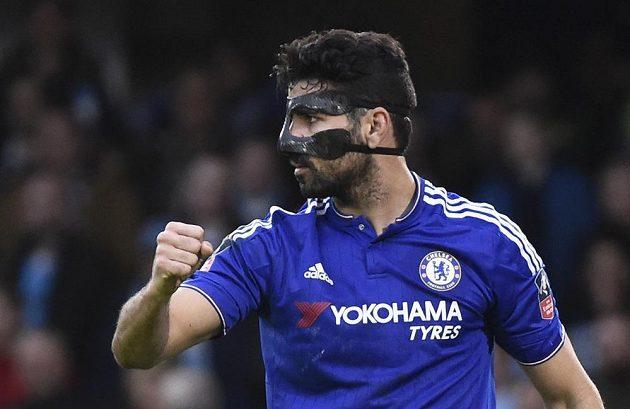 Diego Costa slaví gól do sítě Citizens