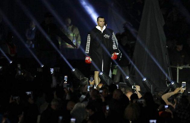 Nástup Ukrajince Vladimira Klička ve Wembley.