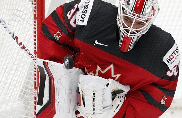 Kanadský gólman Matt Murray dělal českým hráčům v semifinále MS problémy.