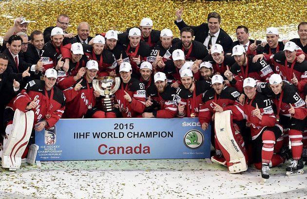 Tým Kanady, suverénní vítěz hokejového mistrovství světa v Praze a Ostravě.