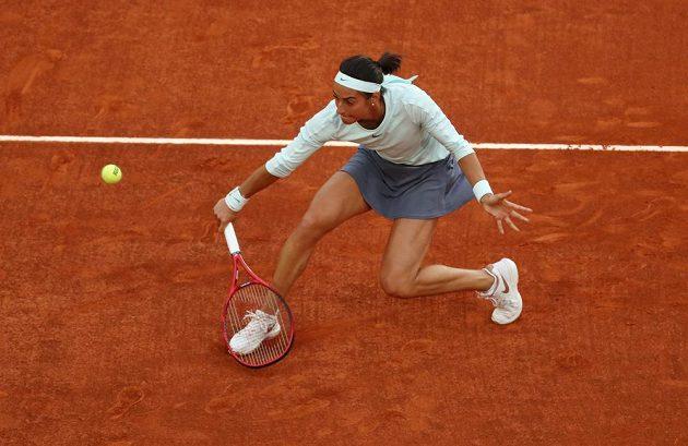 Caroline Garciaová v utkání proti Petře Kvitové.