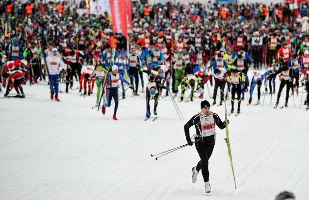 Jizerská padesátka, závod Ski Classics v dálkovém běhu na lyžích.