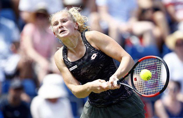 Kateřina Siniaková na turnaji v Birminghamu.
