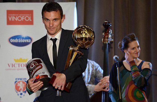 Král ligových kanonýrů David Lafata z týmu AC Sparta Praha.