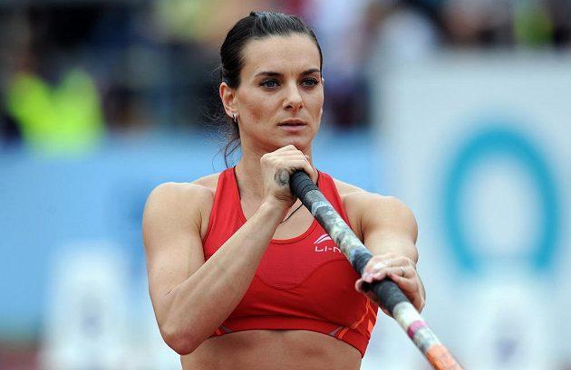 Ruská tyčkařka Jelena Isinbajevová byla na Zlaté tretře ozdobou i vítězkou své disciplíny.