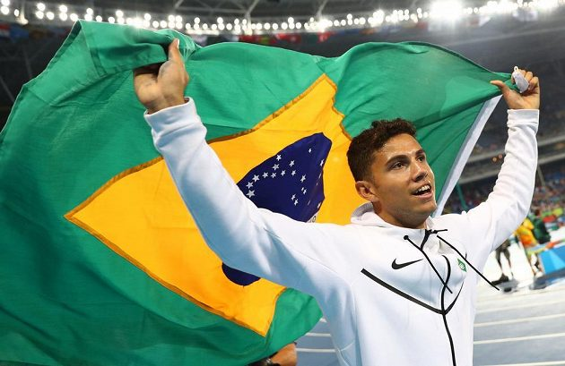 Brazilec Thiago Braz da Silva, olympijský vítěz ve skoku o tyči.