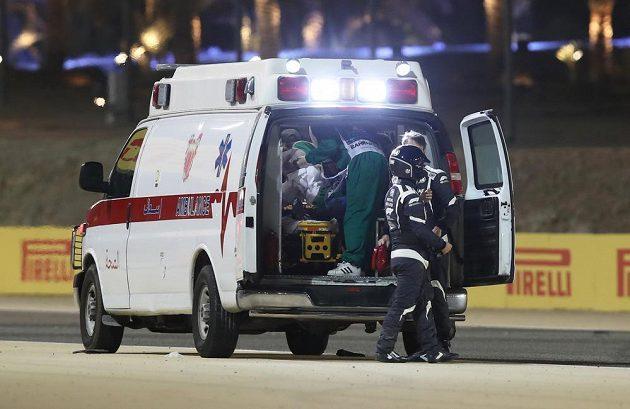 Romain Grosjean byl převezen do nemocnice