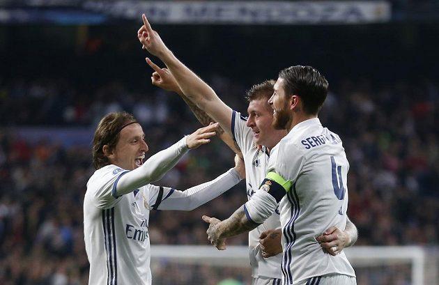 Radost fotbalistů Realu Madrid.