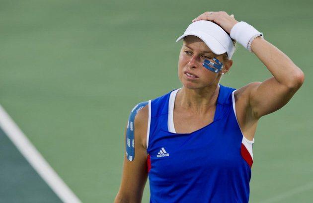 Andrea Hlaváčková v zápase o třetí místo špatně viděla.
