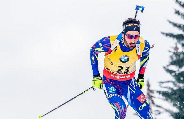 Lídr Světového poháru Martin Fourcade na v Holmenkollenu.