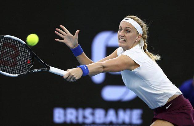 Petra Kvitová v utkání s Američankou Madison Keyesovou.