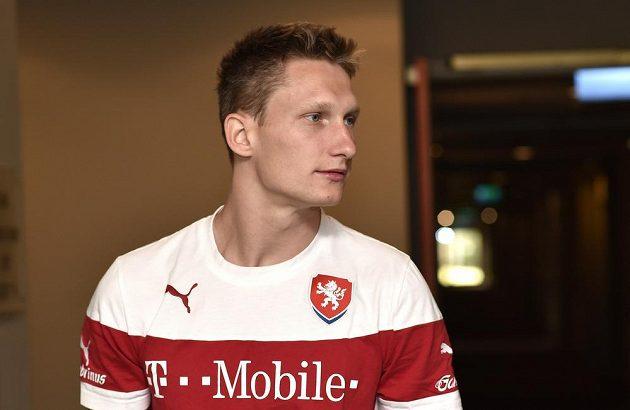 Milan Škoda na srazu české fotbalové reprezentace před utkáním kvalifikace ME 2016 s Islandem.