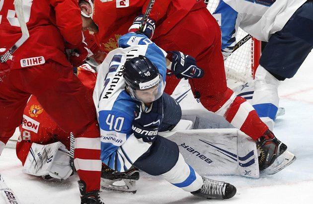 Velká boj o finále MS. Rusko s Finskem.