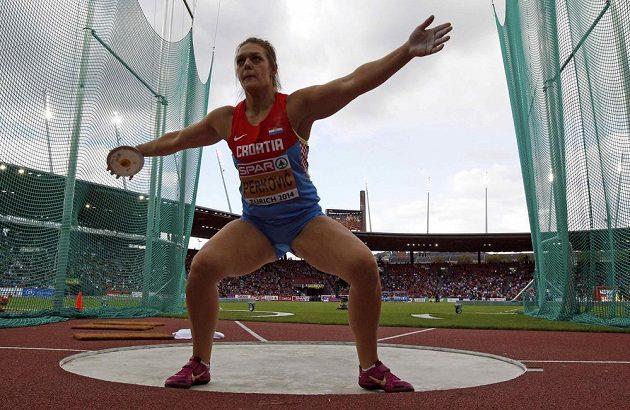 Chorvatka Sandra Perkovičová neměla v hodu diskem žádnou konkurentku.