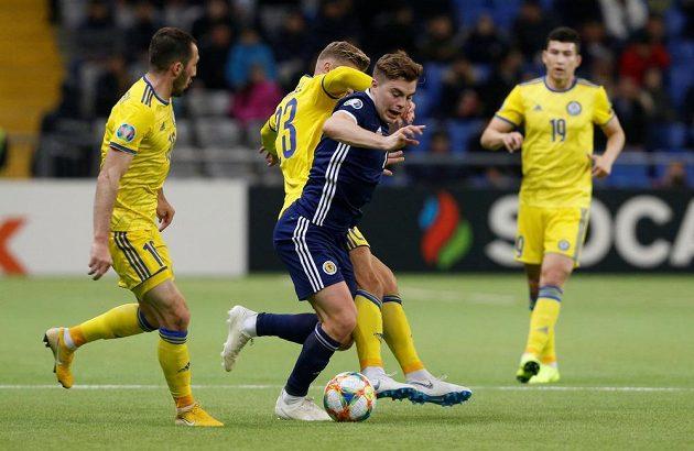 Fotbalisté Kazachstánu vyhráli na startu kvalifikace o postup na EURO 2020 nad Skotskem 3:0.