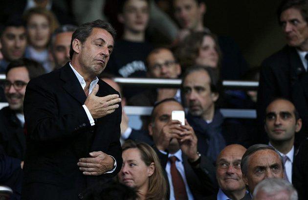 Do hlediště při utkání Paris SG - Rennes dorazil i bývalý francouzský prezident Nicolas Sarkozy.