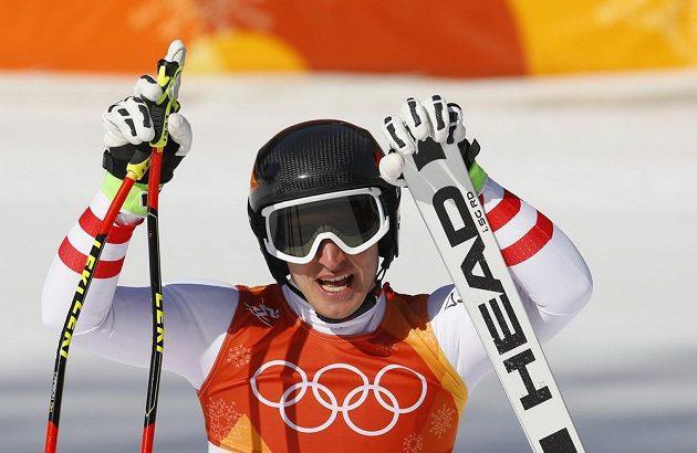Rakušan Matthias Mayer, olympijský vítěz v super-G.